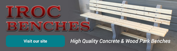 IROC Benches - Wood & Concrete Benches